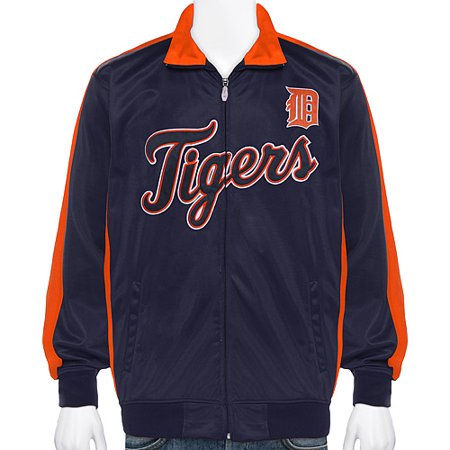 Detroit Tigers Majestic Big & Tall Full-Zip Track Jacket - Navy