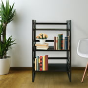 "3-Shelf Folding Student Bookcase 20.75"" Wide-Natural"