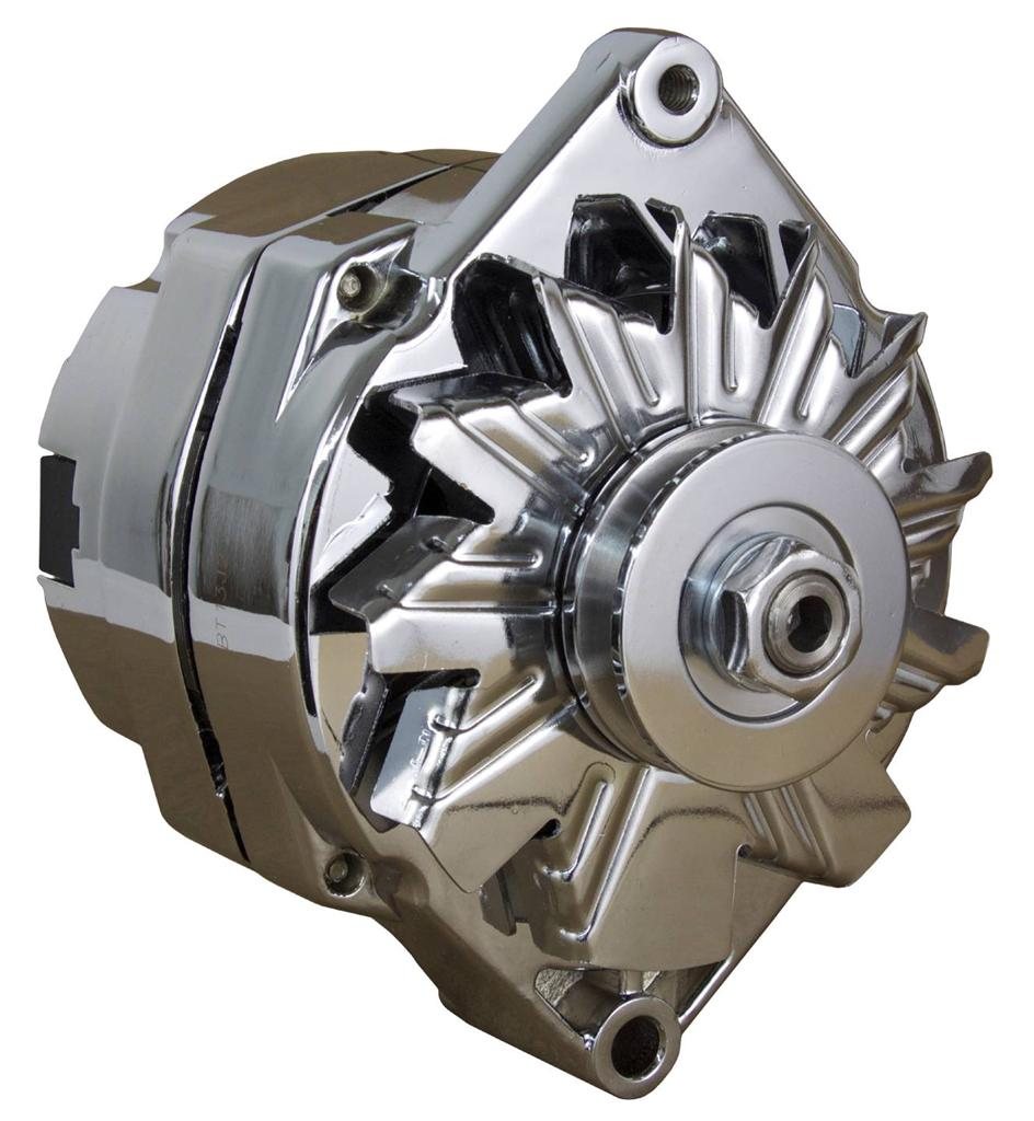 New Chrome Chevy Alternator Fits 110 Amp 3 Wire Or 1 One Setup Gm Wiring Computer 65 85 Self Exciting