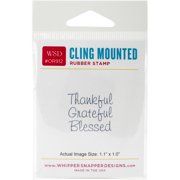 "Whipper Snapper Cling Stamp 2.5""X3.5""-Blessed"