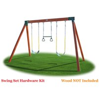 Eastern Jungle Gym DIY Swing Set Hardware Kit with Easy 1-2-3 A-Frame Brackets