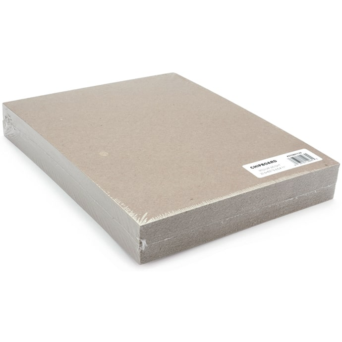 25-Pack Grafix Medium Weight Chipboard Sheets 8.5 X 11 Inches Natural