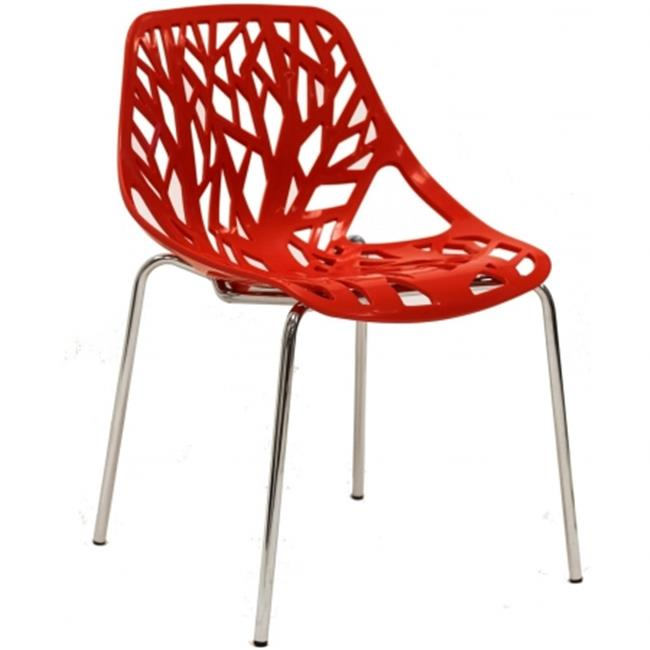 East End Imports EEI-651-RED Stencil Chair in Red Plastic