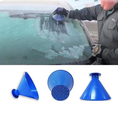 Snow Tools (Scrape A Round Magic Cone-Shaped Windshield Ice Scraper Snow Shovel Tool)
