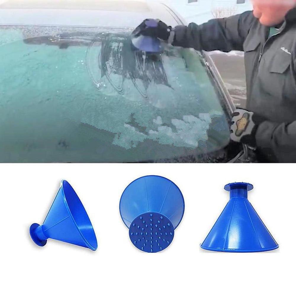 Scrape A Round Magic Cone-Shaped Windshield Ice Scraper Snow Shovel Tool BU