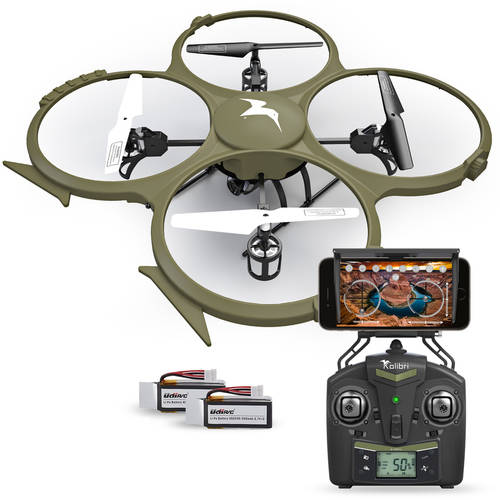 Kolibri Discovery Delta-Recon WiFi U818A Quadcopter Drone Tactical Edition Military Matte Green UDI RC, Extra Battery Included