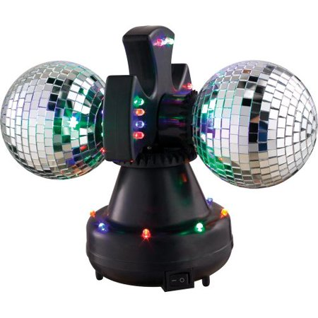Visual Effects V0235 Ve Mirror Ball Duo Led Twin Rotating Mir - Rotating Mirror Ball