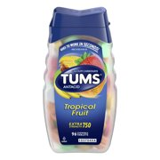 TUMS Antacid Chewable Tablets, Extra Strength for Heartburn Relief, Tropical Fruit, 96 count