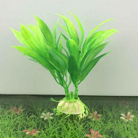Water Grass Green Plant Ornament For Fish Tank Artificial Plastic Aquarium Decoration Aquatic Plants