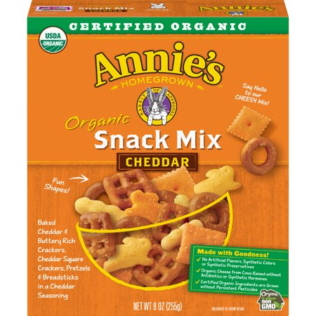 Cheddar Pretzel - Annie's Organic Cheddar Snack Mix Crackers & Pretzels 9 oz