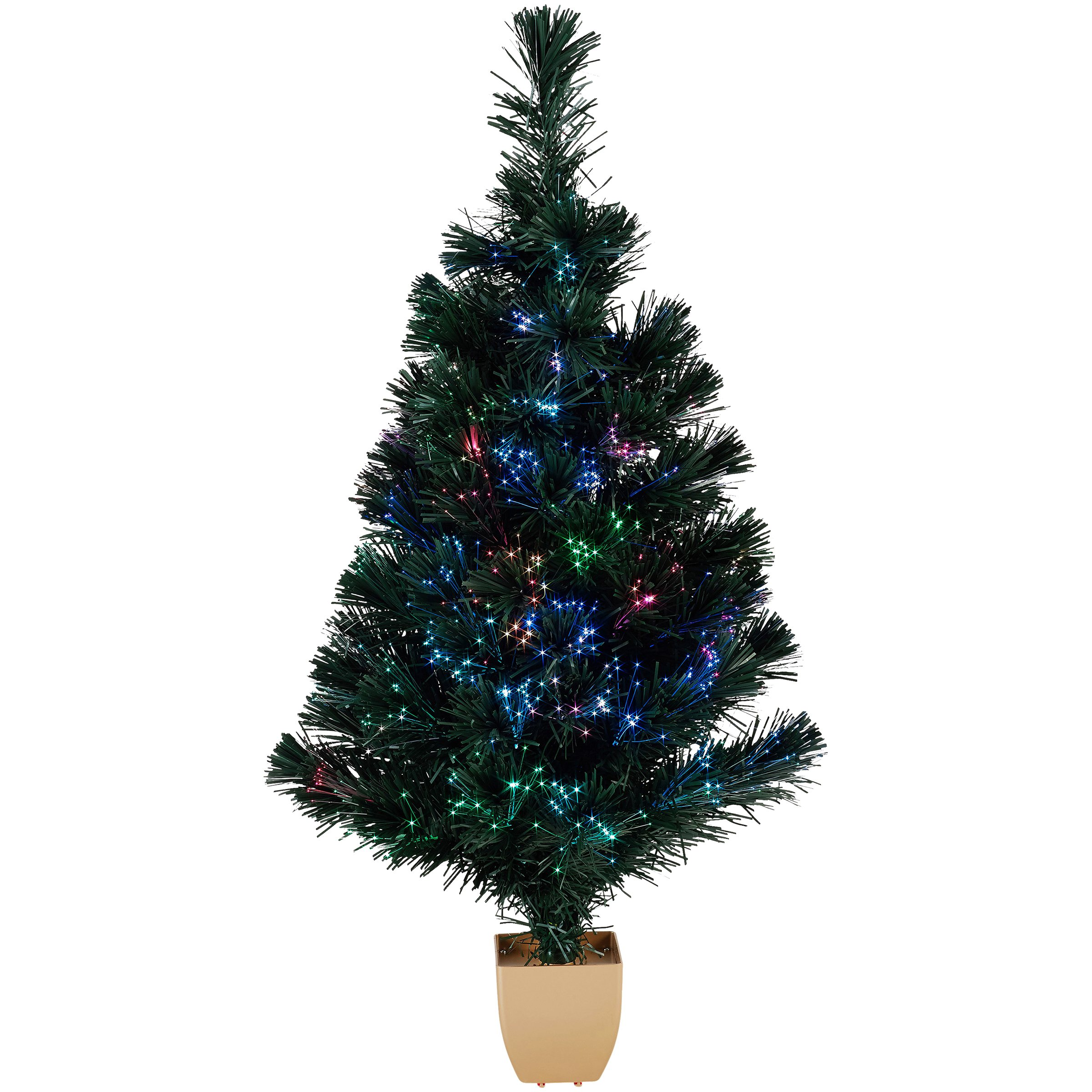 Holiday Time 32-Inch Green Fiber Optic Tree 83 Tips with Continuously Changing Color