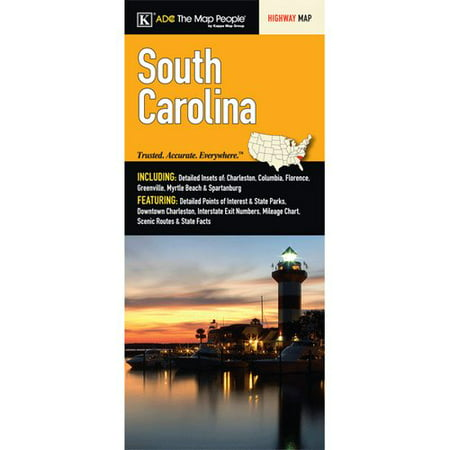 Universal Map South Carolina State Fold Map  Set Of 2