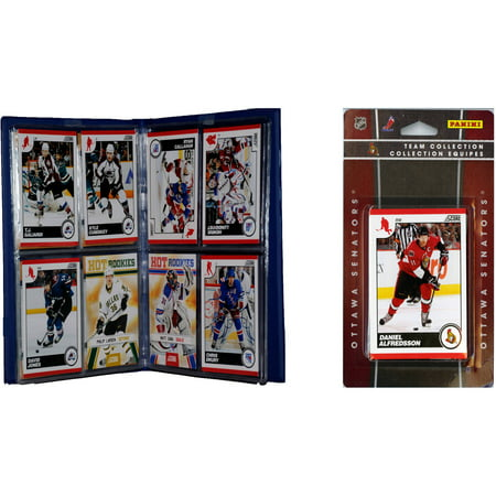 C&I Collectables NHL Ottawa Senators Licensed 2010 Score Team Set and Storage Album - Halloween Stores Ottawa