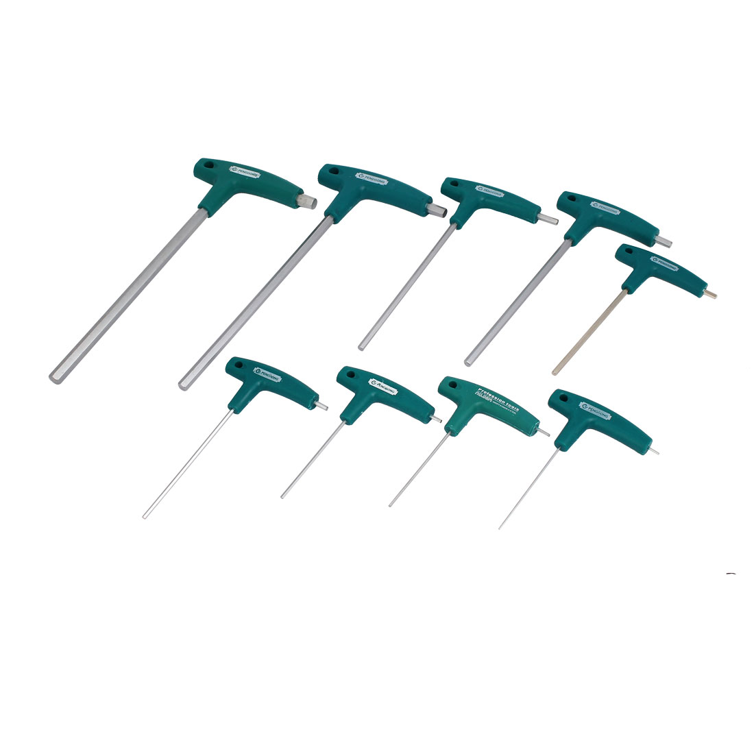 9 in 1 T Shape Handle Metric Hex Key Wrench Inner Hexagonal Spanner Set