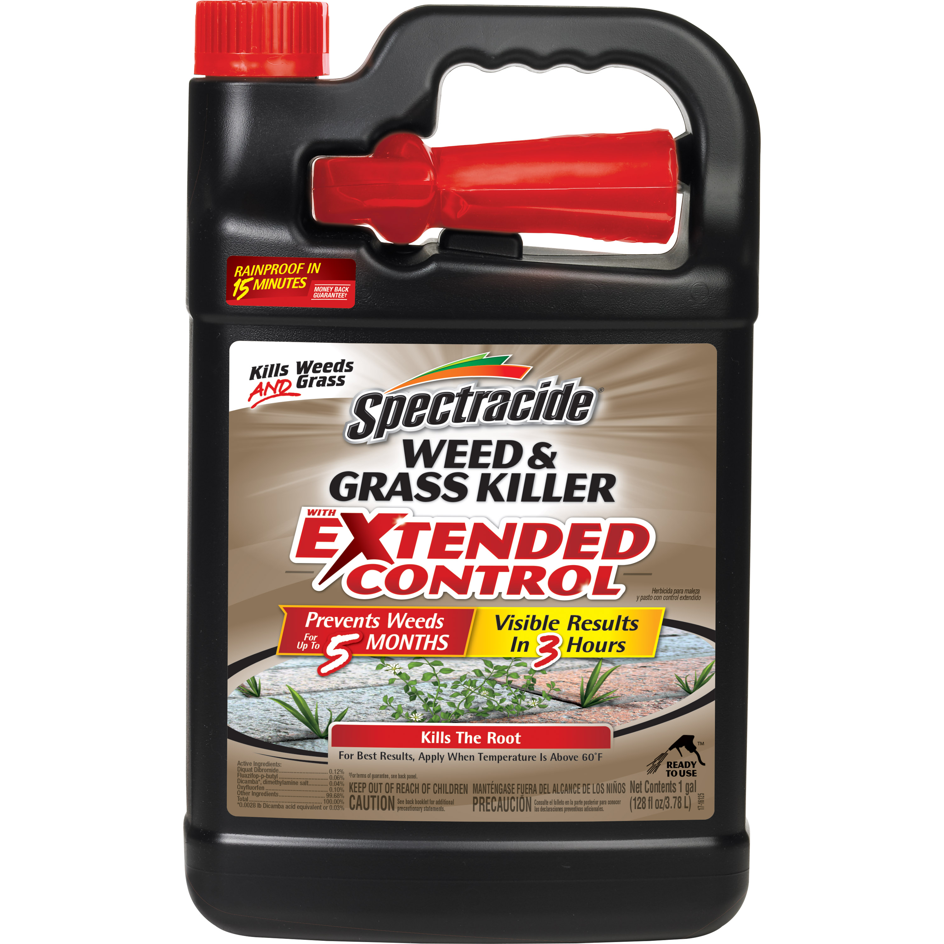 Spectracide Weed & Grass Killer With Extended Control, Ready-to-Use, 1-gallon