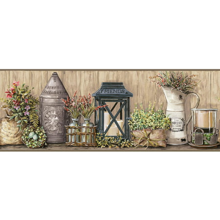 - Country Keepsakes Garden Border Wallpaper