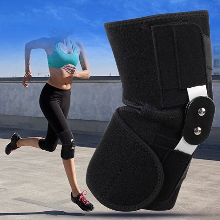 Metal Knee Braces (Unisex Knee Brace Support Adjustable Metal Neoprene Polyester Stabilizer Breathable Compression Sleeve Support For Pain Relief )