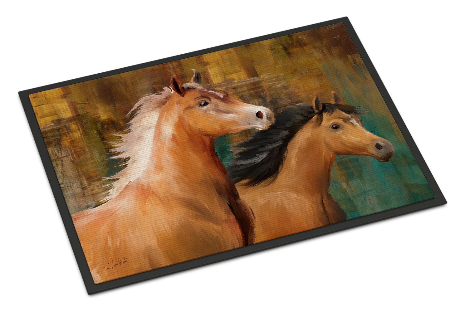 Horse Duo Doormat by Caroline's Treasures