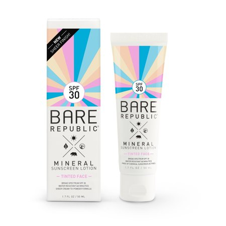 Bare Republic Mineral Tinted Face Sunscreen Lotion, SPF 30, 1.7