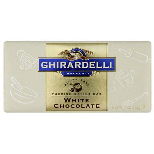 Ghirardelli Chocolate White Chocolate Baking Bar, 4 oz, (Pack of 12)