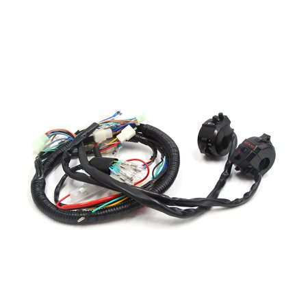 Motorcycle Handlebar Horn Light Control Switch Set for GY6 125 w Wire - 2 Wire Horn