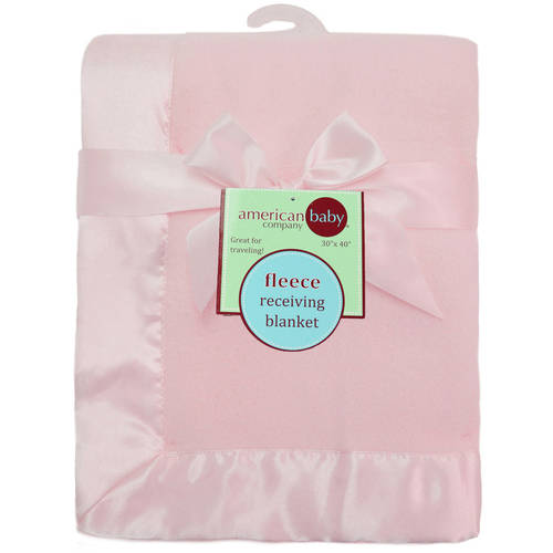 "American Baby Company Fleece Blanket with 2"" Satin Trim"