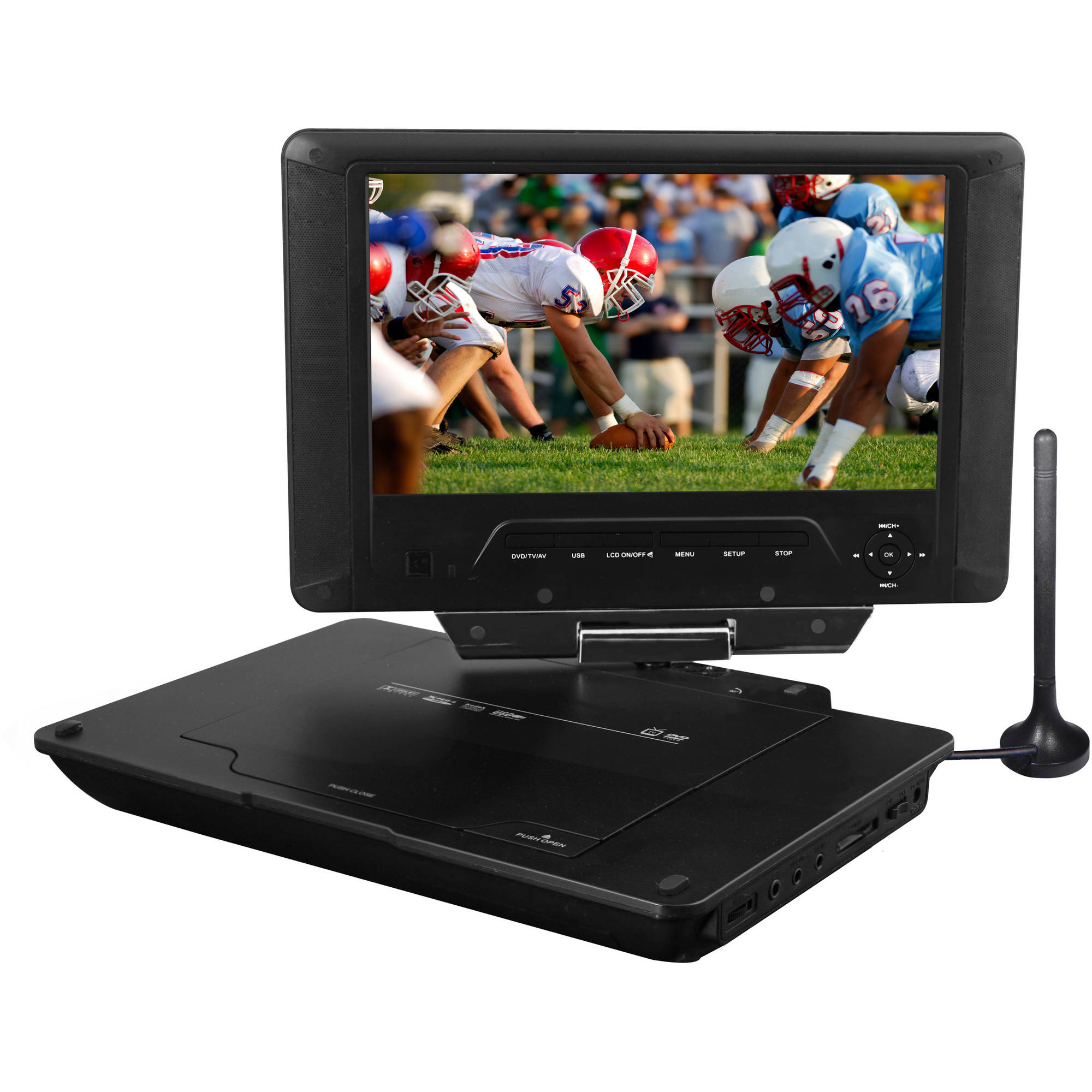 "Azend ED8890A 9"" Portable Digital TV and DVD Player"