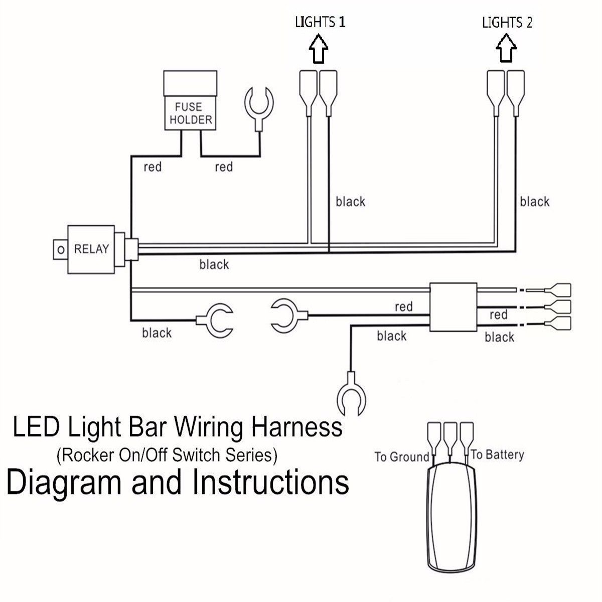 Truck Light Bar Wiring Harness Diagram from i5.walmartimages.com