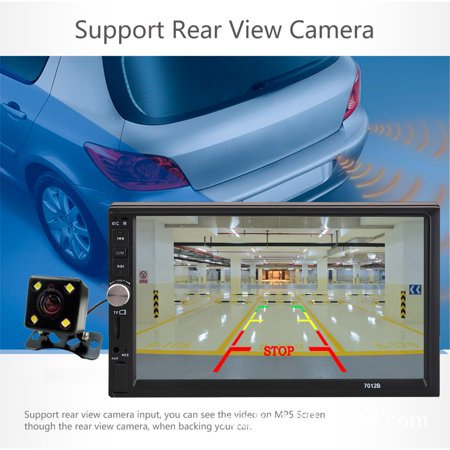 7'' HD TFT display screen 2 Din Stereo Car MP5 Player bluetooth Touchscreen Radio FM Aux With Backup Rear View Camera - image 2 of 10