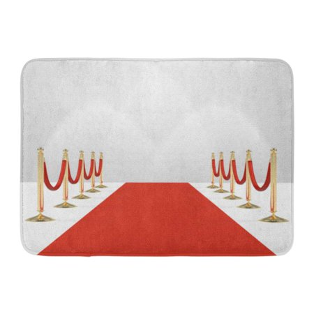 GODPOK Red Carpet with Ropes on Golden Stanchions Exclusive Event Movie Premiere Gala Ceremony Awards Blank Rug Doormat Bath Mat 23.6x15.7 inch