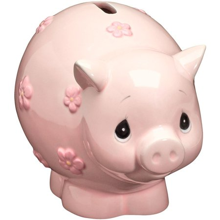 162425 Ba Piggy Bank Ceramic Figurine  A Sweet Faced Pink Piggy Is The Most Charming Way To Save A Little Ones First Coins By Precious Moments Ship From Us