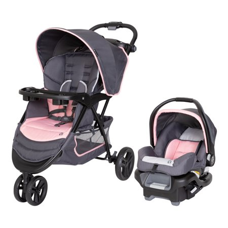 Baby Trend Flamingo EZ Ride Jogger Travel System, Flamingo Pink Via Travel System