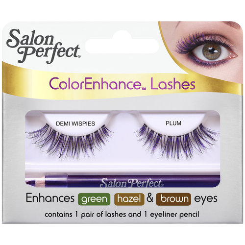 Salon Perfect ColorEnhance Lashes, Demi Wispies Plum, 2 pc