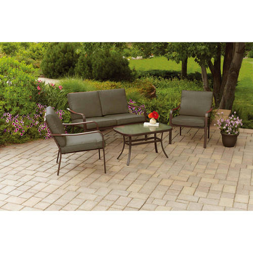 Mainstays Stanton Cushioned 4-Piece Patio Conversation Set, Red by Keysheen Industry (Shanghai) Co., Ltd.