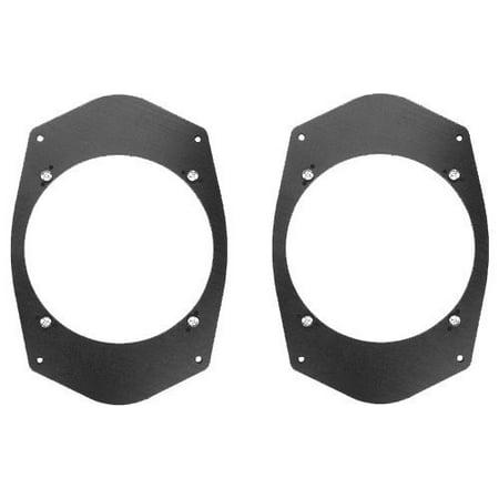 "Universal 6""x9"" 6x9 to 6 1/2"" 6.5 Speaker Adapter Spacer Rings - SAK045_55 - 1 Pair"