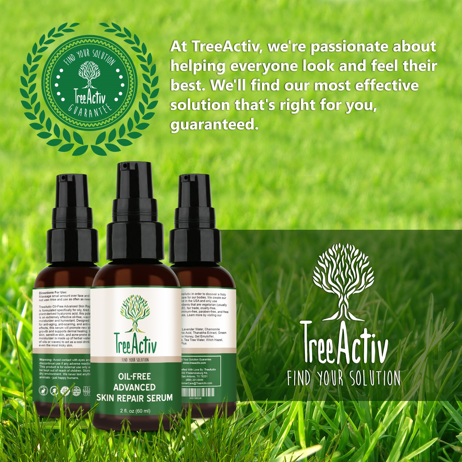 TreeActiv Oil-Free Advanced Hydrating Serum, Hyaluronic Acid & Green Tea 2oz Babor CLEANSING Phytoactive Sensitive -For Sensitive Skin - 100ml/3.8oz