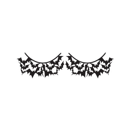 Women's  Black Bats Costume Paper Eyelashes (Bat Eyelashes)