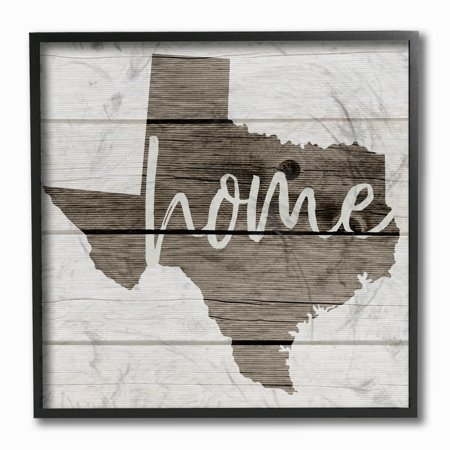 Texas Home Decor (The Stupell Home Decor Collection Texas Home Typography Map Framed Giclee Texturized Art, 12 x 1.5 x 12)