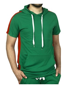5d38244ea Product Image Bleecker & Mercer Short Sleeve Hoodie with Side Taping
