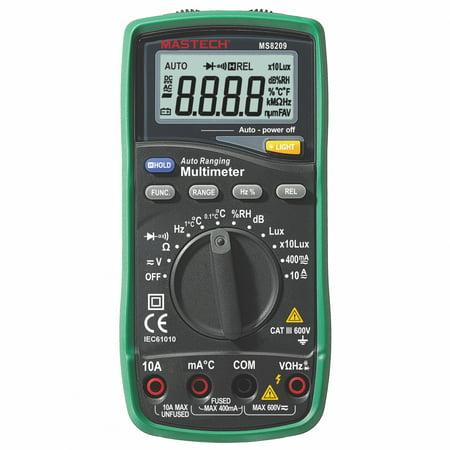 Mastech MS8209 5 in 1 Multimeter Lux, Sound Level, Humidity,Temperature,True - Mastech Digital Multimeter