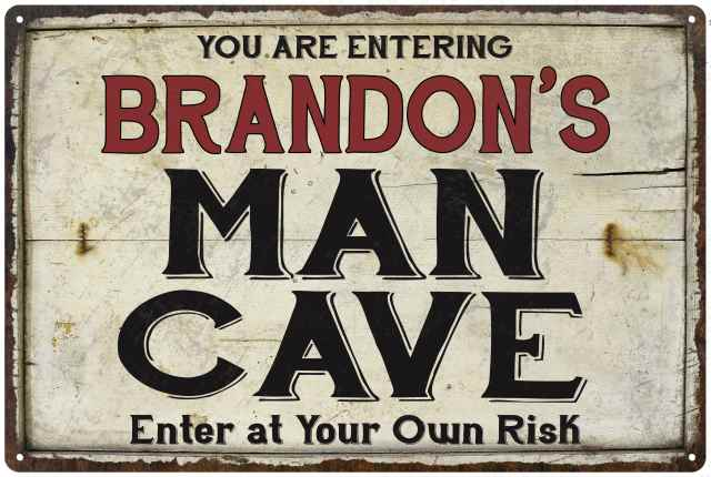 Personalized Man Cave Sign Printed with YOUR NAME Custom Aluminum Signs DB#195