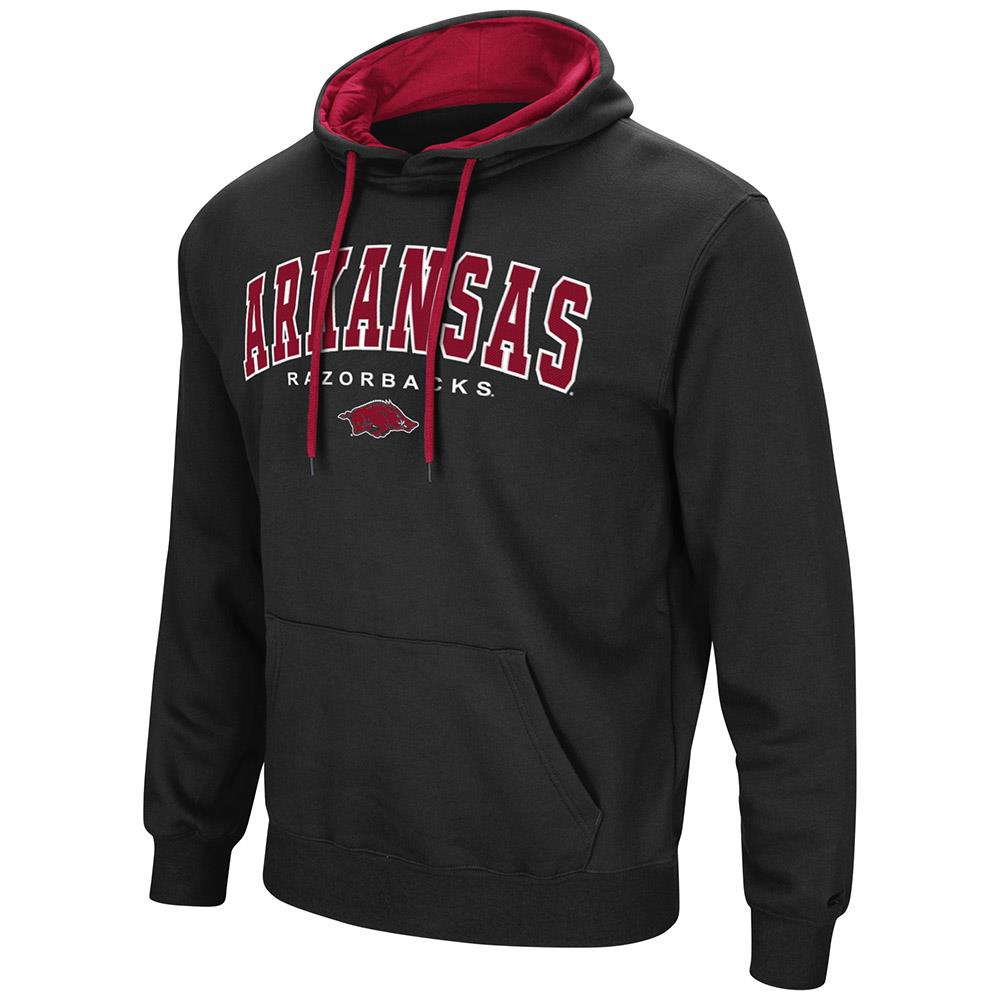 Mens Arkansas Razorbacks Pull-over Hoodie by Colosseum