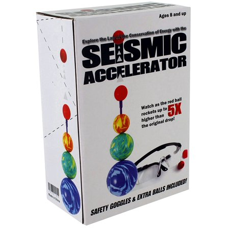 Seismic Accelerator, A fun way to demonstrate the laws of conservation of energy! Learn about potential and kinetic energy. By American