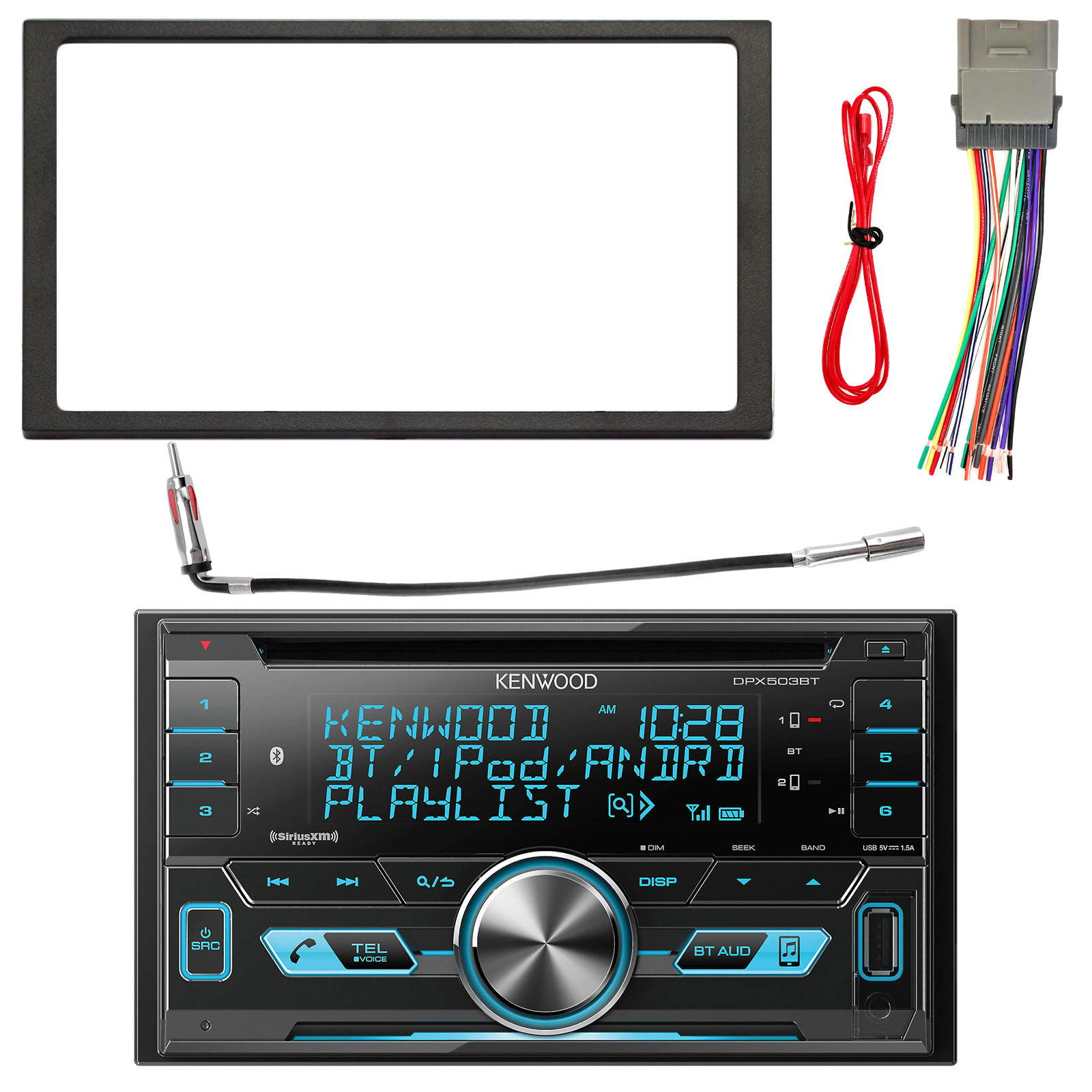 kenwood 2 din bluetooth cd am fm usb car audio receiver enrock rh walmart com Car Audio System Wiring Diagram Car Audio Wiring Help