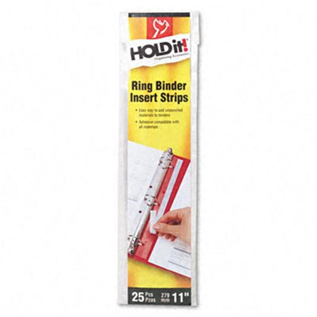 Holdit Self-Adhesive Multi-Punched Binder Insert Strips  25 Pack