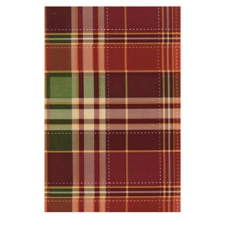 Autumn Flannel Autumn Flannel - Harvest Plaid Autumn PEVA Vinyl Tablecloth Flannel Backed (52 x 70 Rectangle)