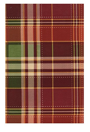 Harvest Plaid Autumn PEVA Vinyl Tablecloth Flannel Backed (52 X 70  Rectangle)