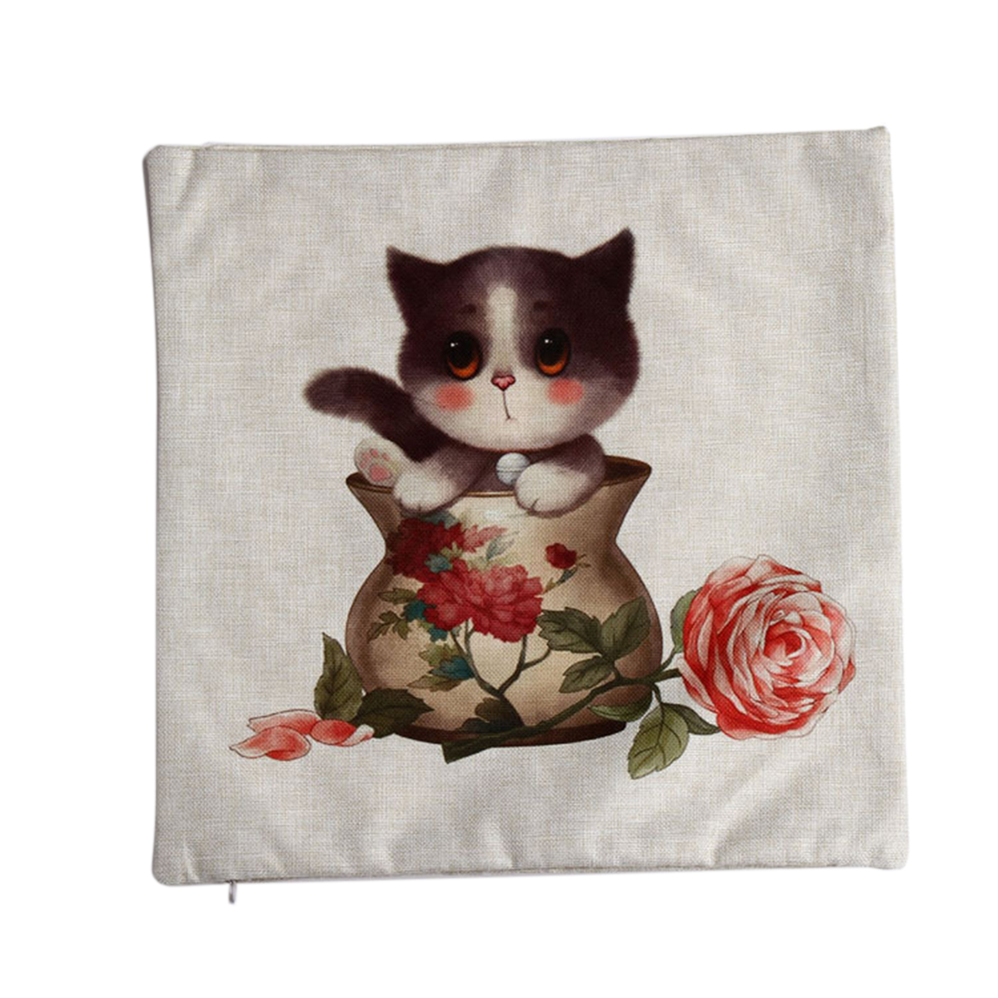 Back to College Gifts & Accessories | Piccocasa Home Sofa Linen Cat 1 Pattern Waist Throw Cushion Cover Pillow Case