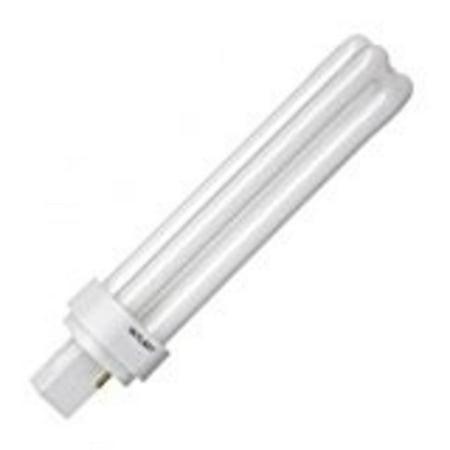 GE 12861 - F18DBXT4/SPX27 - 18 Watt - 2 Pin G24d-2 Base - 3000K - CFL Light Bulb
