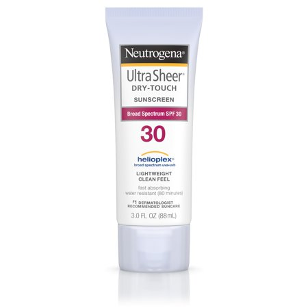 Neutrogena Ultra Sheer Dry-Touch Water Resistant Sunscreen SPF 30, 3 fl. (Gel Sunblock)